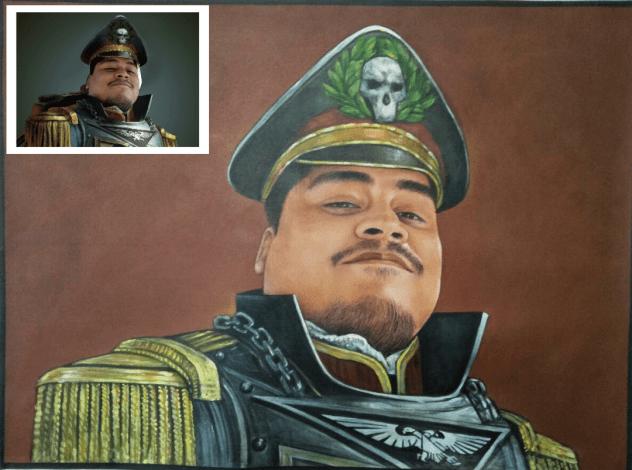 Handmade custom portrait painting