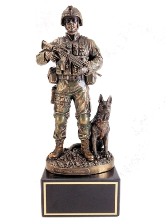 A Soldier Statue as military retirement gift