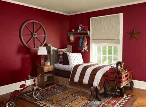 Bright Monochromatic Walls (Kids Bedroom Decoration Ideas)