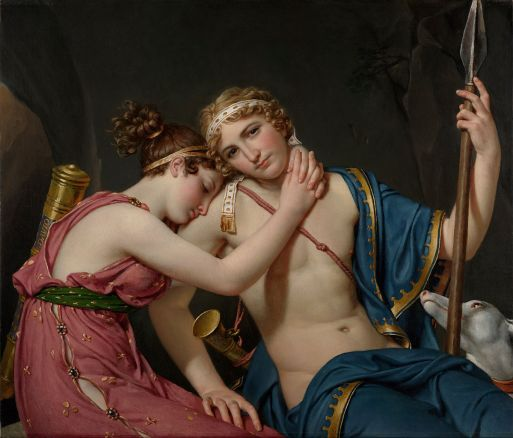 The Farewell of Telemachus and Eucharis by Jacques-Louis David