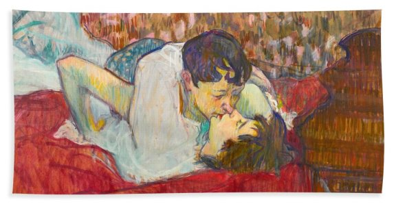In Bed: The Kiss by Henri de Toulouse-Lautrec