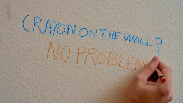 How to Remove Crayon from the Wall