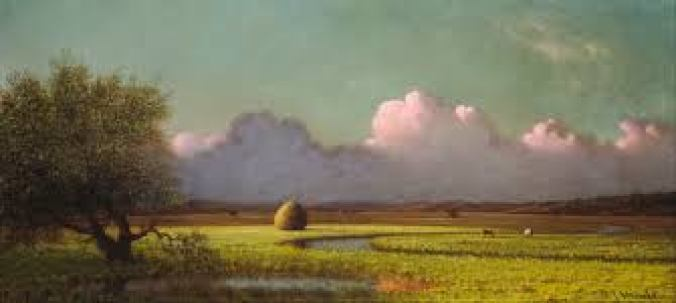 Sunlight and Shadow: The Newbury Marshes-Martin Johnson Heade