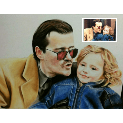 Baby Colored Pencil Drawing