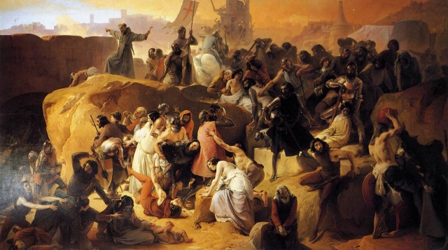 C:\Users\dell\Desktop\Hayez,_Fracesco_-_Crusaders_Thirsting_near_Jerusalem_-_1836-50.jpg