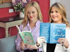 Reese Witherspoon and Jenna Bush Hager reading books