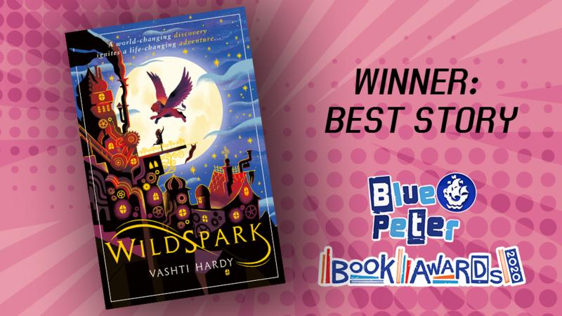 Vashti Hardy wins The Blue Peter Book Award: Best Story with Wildspark
