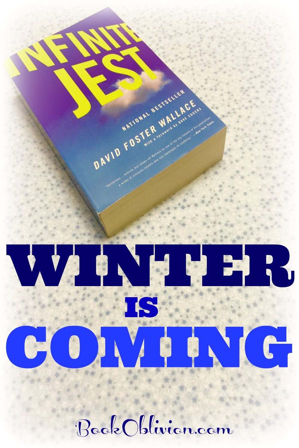 Infinite Winter starts Jan. 31! Join 600 of your closest Internet friends in reading the colossal novel, Infinite Jest by David Foster Wallace.