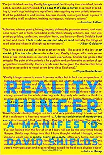 David Shields Reality Hunger