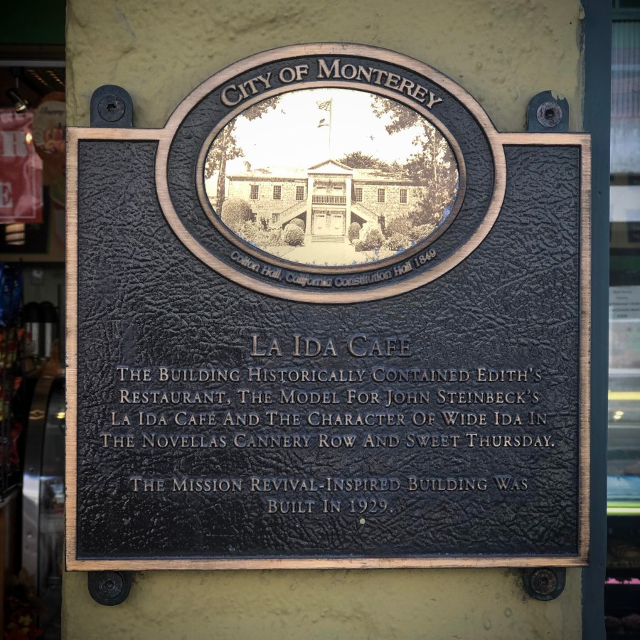 La Ida's Cafe in Cannery Row by John Steinbeck