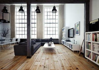 Krakow Loft, designed and visualized by Oskar Firek