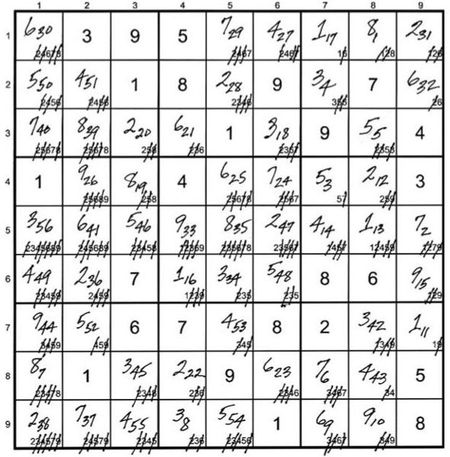 bookofjoe: Mathematician's foolproof Sudoku solution