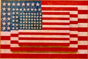 Three American Flags by Jasper Johns