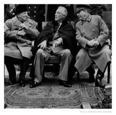 Churchill, Roosevelt, and Stalin