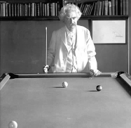 Marc Twain playing billiards