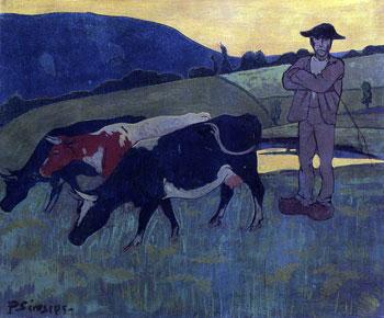 Peasant with Three Cows - (Paul Seru</a data-recalc-dims=