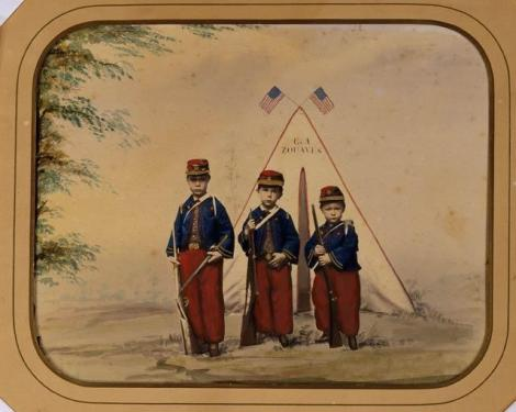 Three Boys in Zouave Costume
