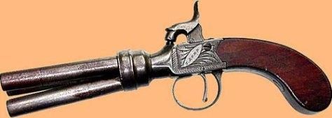 three barrel volley pistol