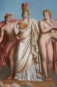 Minerva, Apollo and Mercury by Girodet (1814)