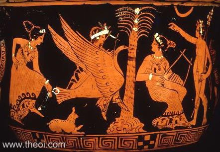 Apollo, Marsyas and the Muses | Athenian red-figure bell krater C4th B.C. | British Museum, London
