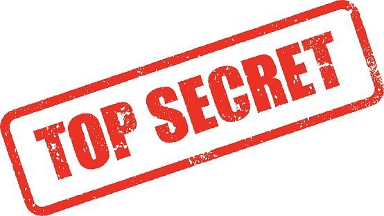 Sensitivity of information – top secret.