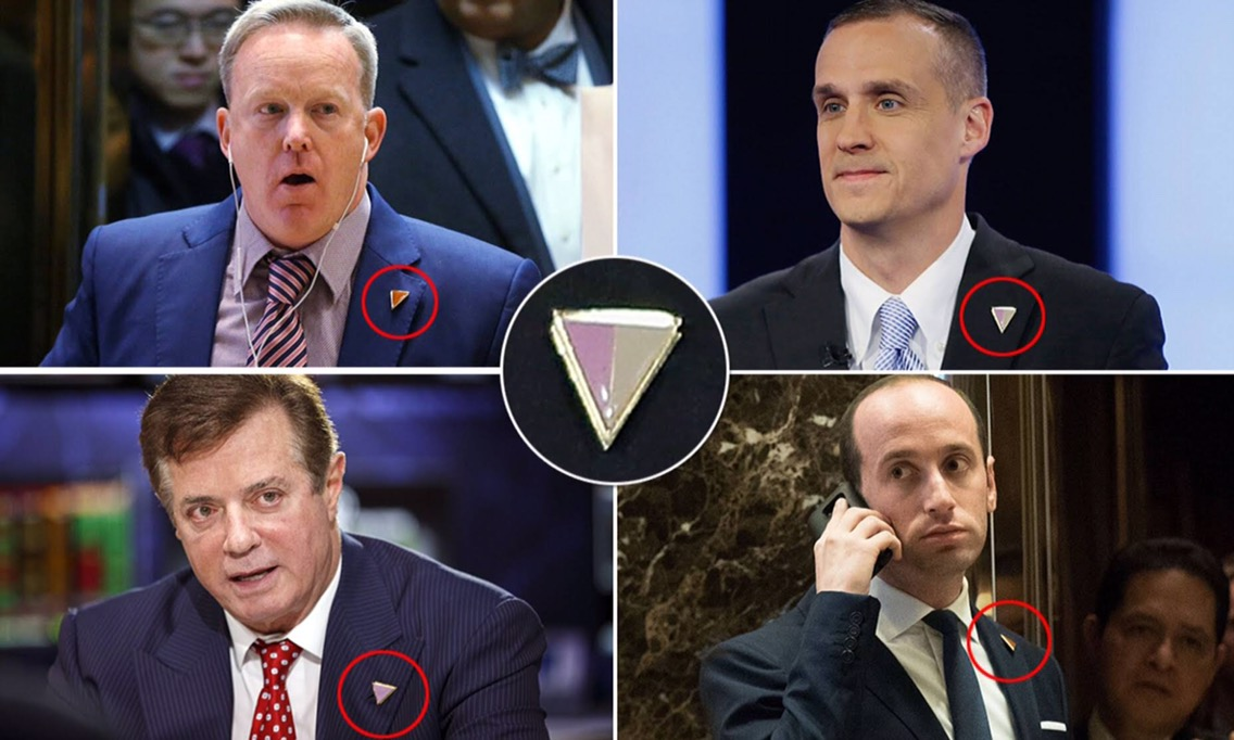 Image result for trump aides lapel pins