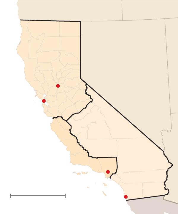 California - three sections