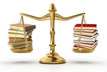 Scale weighing books