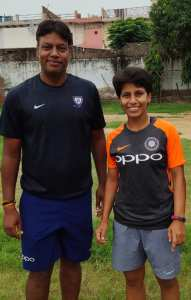 Indian Cricket star Poonam Yadav with coach Bookosmia exclusive interview