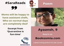 Quarantine is fun time! Read Poem With Sara