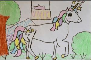 Read with Sara unicorn story for kids by kids Bookosmia