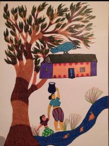Read with Sara Bookosmia Gond painting