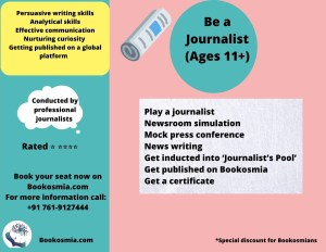 Be a Journalist Workshop for kids