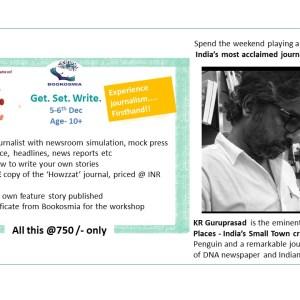 Be a Journalist Workshop with KR Gururprasad Bookosmia