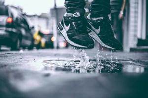 Monsoon : Jumping on muddy puddles