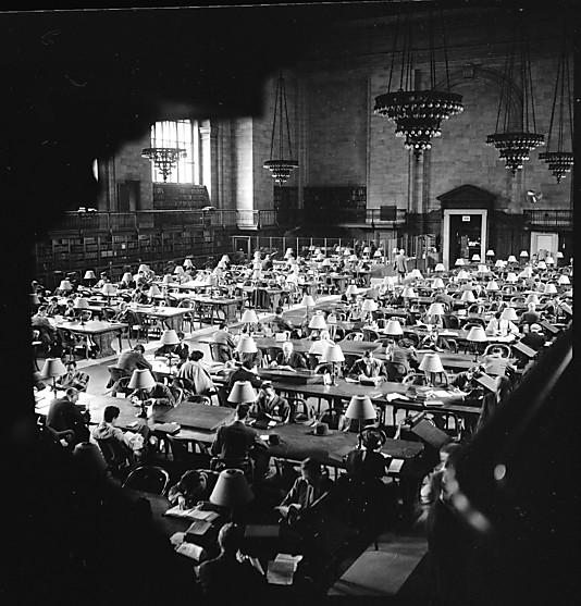 Walker Evans NYPL Reading Room