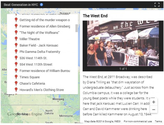 Beat Generation Map - west end