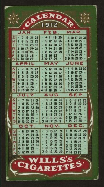 Calendars 1912