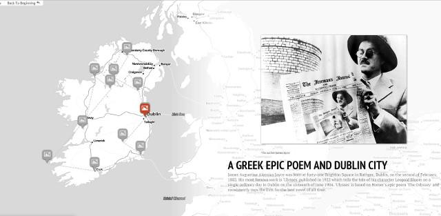 Literary map of Ireland