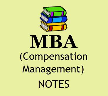 MBA Compensation Management Study Materials BOOK PDF Format | Download 4th SEM MBA Compensation Management Notes PDF, Books PDF, Lecture Notes