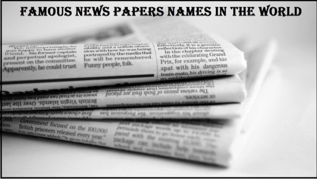 Famous News Paper Names in the World Notes 2021: Download Study Materials