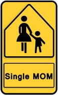 Sign Single Mom Free Use