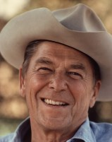 Ronald Reagan in Cowboy Hat Free Use