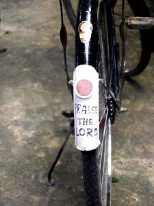 bicycle-with-praise-the-lord-written-on-fender-free-use