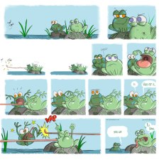 ___ comic strip called…__erm…um_ _ Darcy Moon and the deep-fried frogs