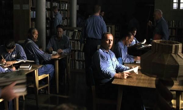 shawshank redemption library scene