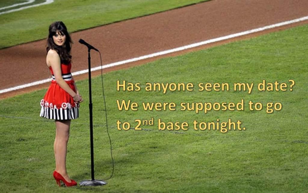 Zooey Deschanel as Amelia Bedelia - baseball