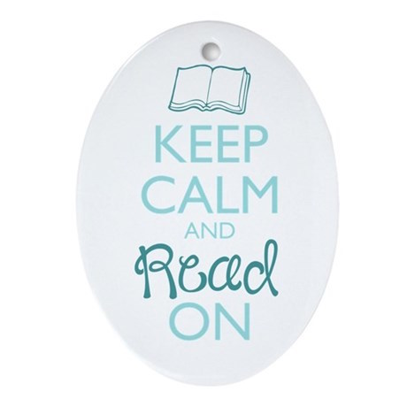 Bookish Ornaments - Keep Calm and Read