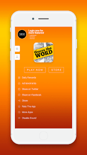A screencap of an ad for the word game Guess the Word showing the start screen