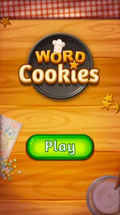 A screencap of the start screen in the word game Word Cookies